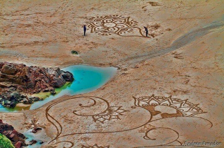 sand paintings
