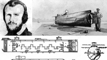 Horace Lawson Hunley invented the submarine.
