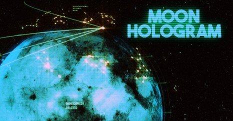 fake moon hologram