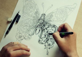 New Ornate Insects Drawn By Alex Konahin