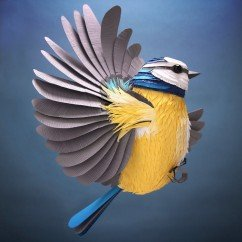 Hand-Cut Paper To Create Sculptures Of Birds, Bees And Other Creatures
