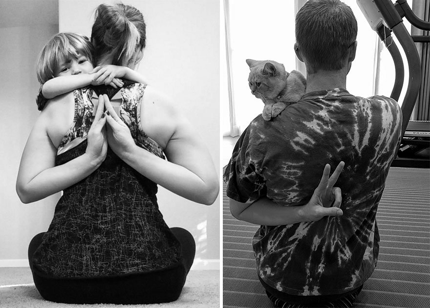 Single Guy Recreates His Twin Sister's Baby Photos Using A Cat 7