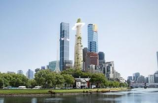 Designer Skyscraper Rises Up Like A Mountain In The City