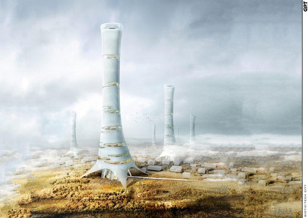 Hyper-Environmental Skyscraper Acts Like A Squid
