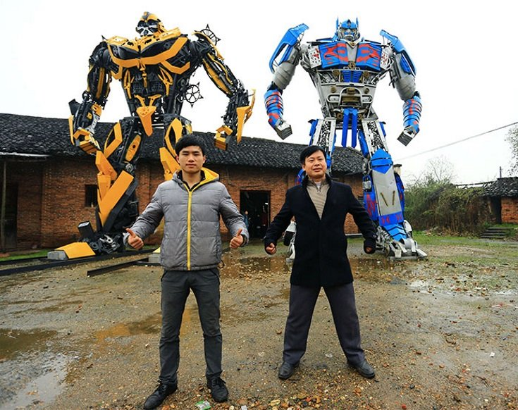 Life-Size Transformer Sculptures