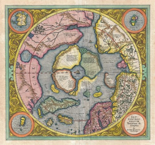 northpole The second draft of the Septentrionalium Terrarum