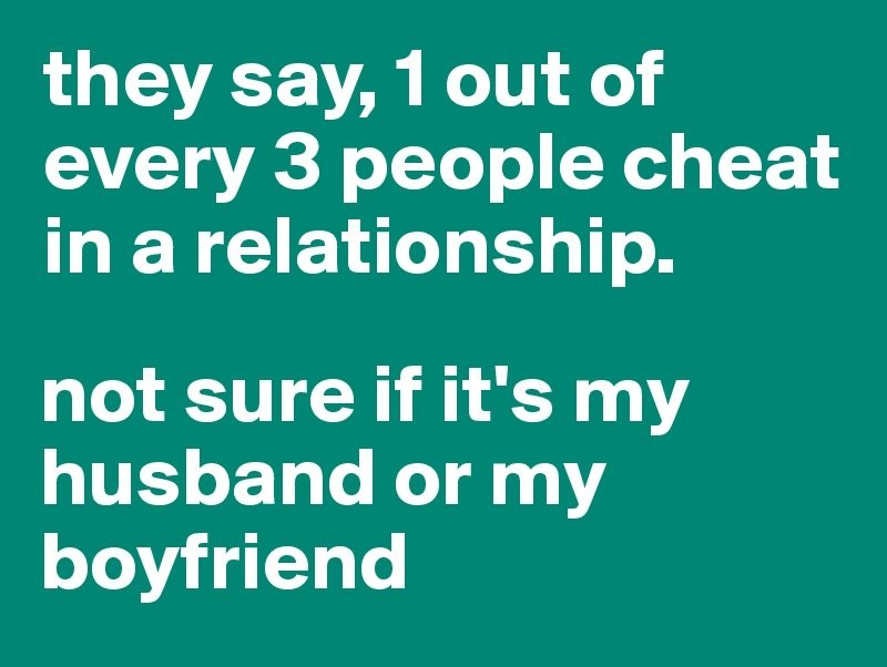 Three Little Known Reasons Why Some People Cheat In Relationships