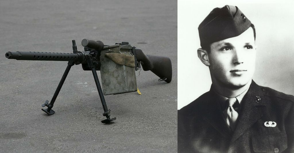 World War II Stories: The Marine Carrying An Aircraft Machine Gun On Iwo Jima