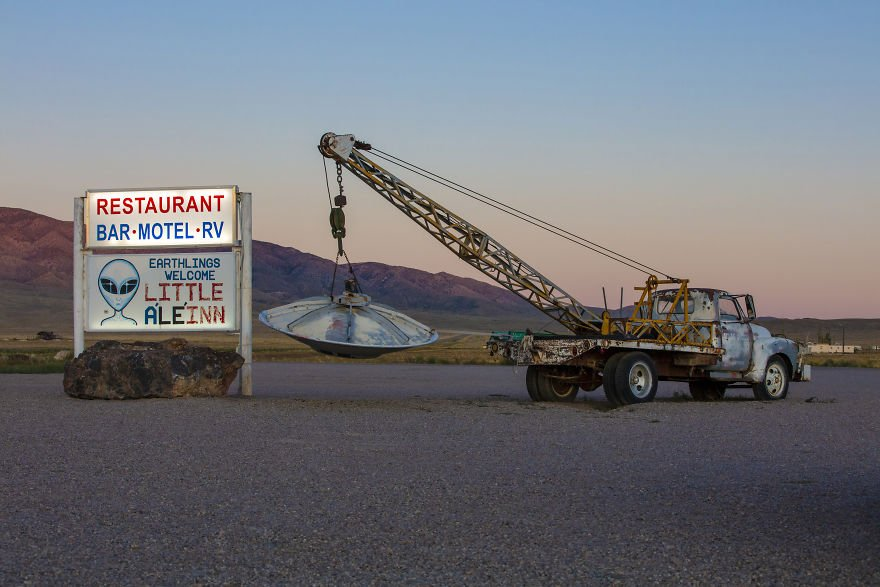 Area 51 Outside Of The Little A'le'inn In Rachel, Nevada