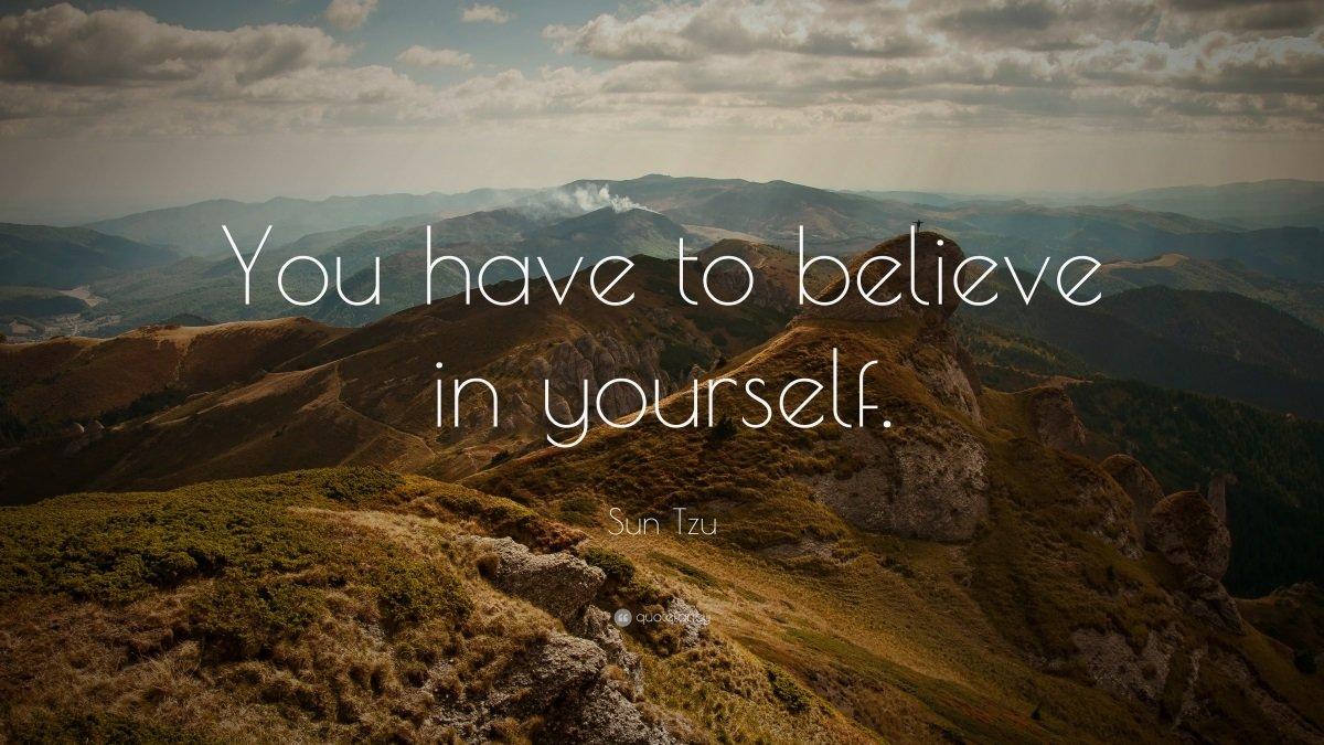 motivate yourself believe