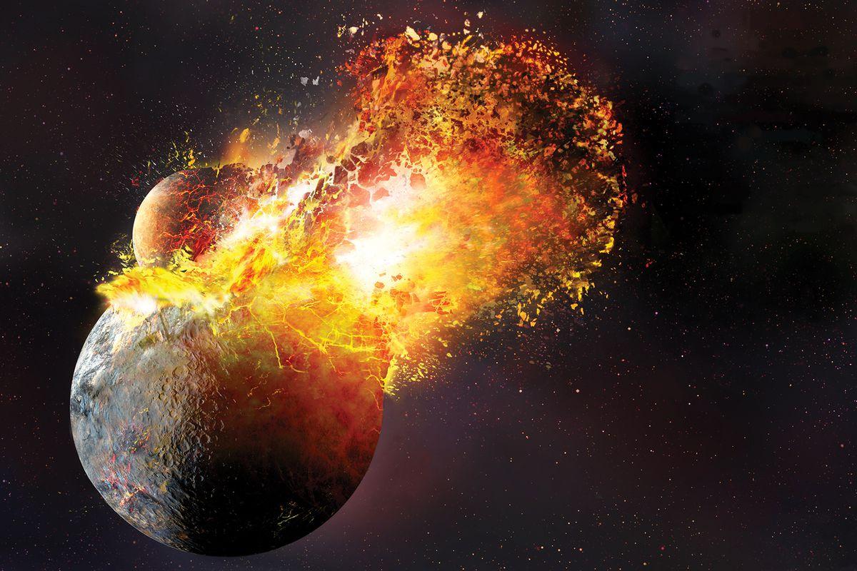 planet uranus collision