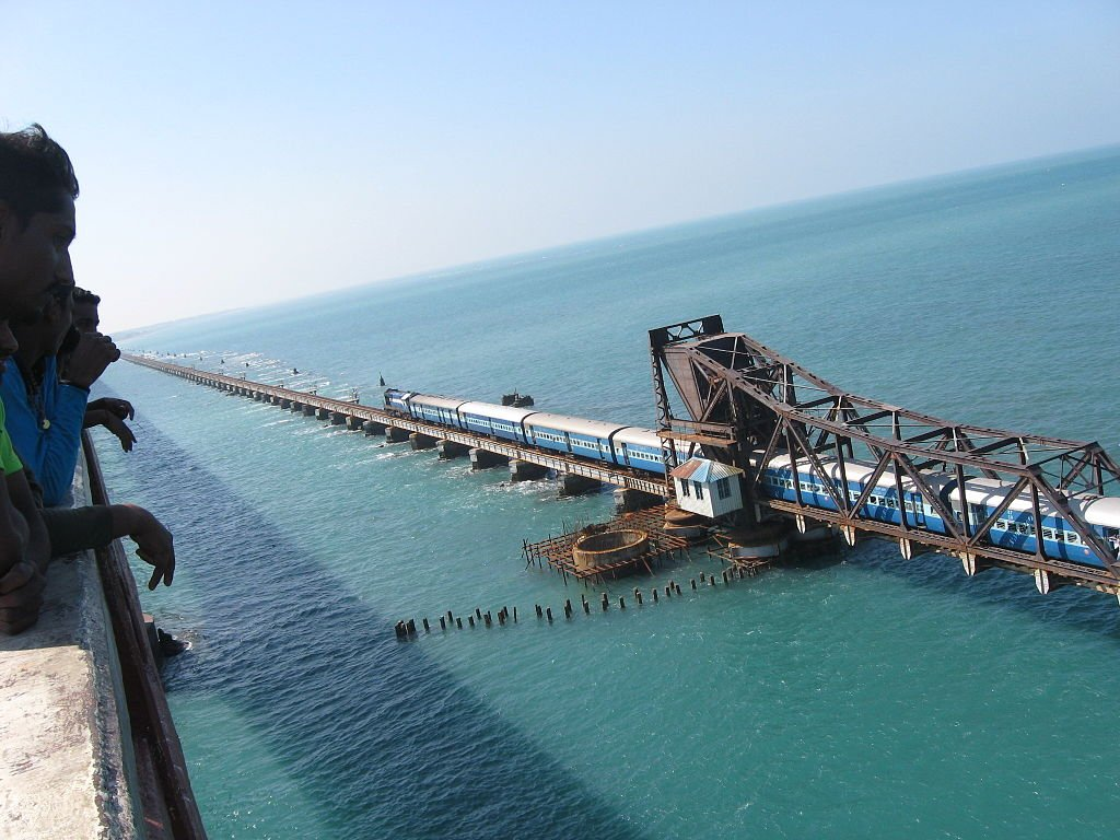 dangerous railways Pamban Bridge