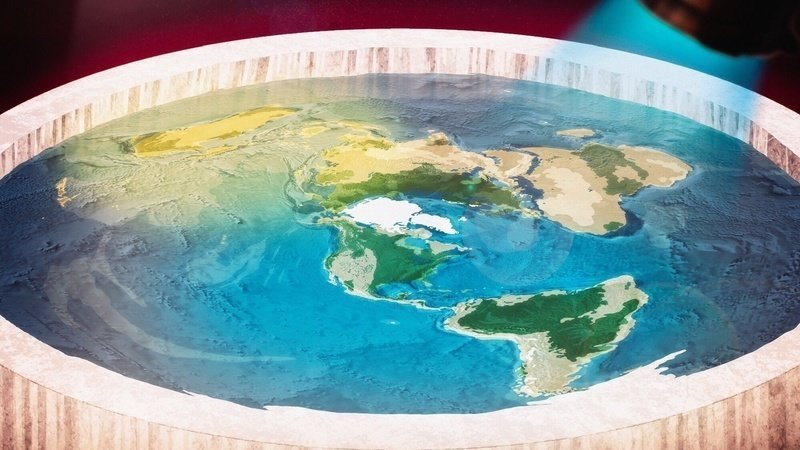 flat earth wall