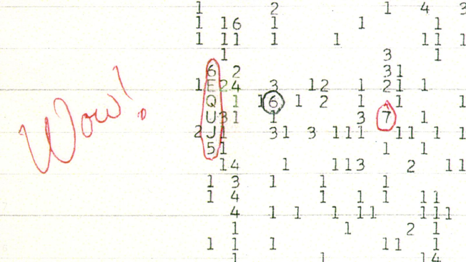 space 'WOW' Signal